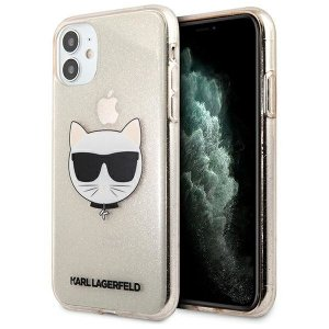 Karl Lagerfeld KLHCN61CHTUGLGO iPhone 11 złoty/gold hardcase Glitter Choupette