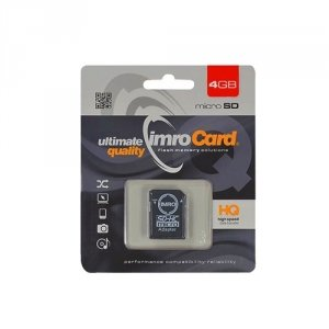 Karta pamięci microSD 4GB Imro + adp 10C
