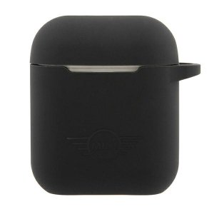 Mini MIACA2SLTBK AirPods cover czarny/black hard case Silicone Collection