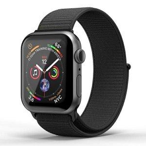 SuperDry Watchband Apple Watch 38/40mm Nylon Weave czarny/black 41673