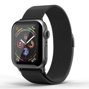 SuperDry Watchband Apple Watch 38/40mm Chainmail czarny/black 41681