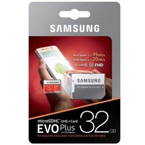 Karta pamięci Samsung EVO Plus 32GB microSD + adapter 10 class MB-MC32GA/EU