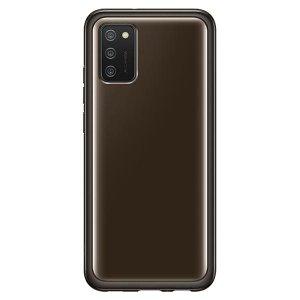Etui Samsung EF-QA026TB A02s Clear Cover Black
