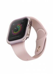 UNIQ etui Valencia Apple Watch Series 4/5/6/SE 44mm. różowo-złoty/blush gold pink