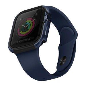 UNIQ etui Valencia Apple Watch Series 4/5/6/SE 44mm. niebieski/atlantic blue