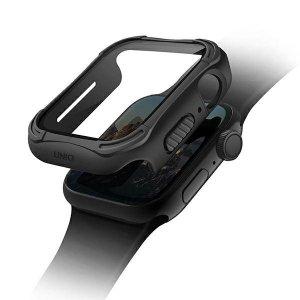 UNIQ etui Torres Apple Watch Series 4/5/6/SE 44mm. czarny/midnight black