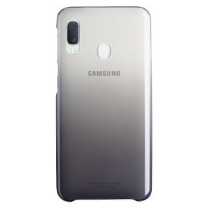 Oryginalne Etui Samsung EF-AA202CB A20e Gradiation Cover czarny/black A202