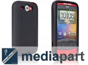 CASE-MATE HYBRID Tough Rubber Case HTC Wildfire
