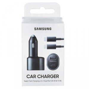 Ładowarka Samochodowa Samsung Car Charger EP-L5300XB 45W + 15W z kablem USB-C