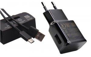 SAMSUNG - ORYGINALNA ŁADOWARKA SIECIOWA 2A FAST CHARGE EP-TA200EBE z kablem USB-C EP-DG970CWE 1m - Galaxy S10 S10E S10 Lite S10+ S20 , A20E A50 A51 A70(czarna)