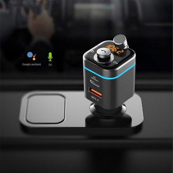 TECH-PROTECT C72 PRO 2-PORT CAR CHARGER + TRANSMITER FM BLACK