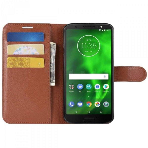 Skórzane etui book case wallet MOTO G6 PLUS