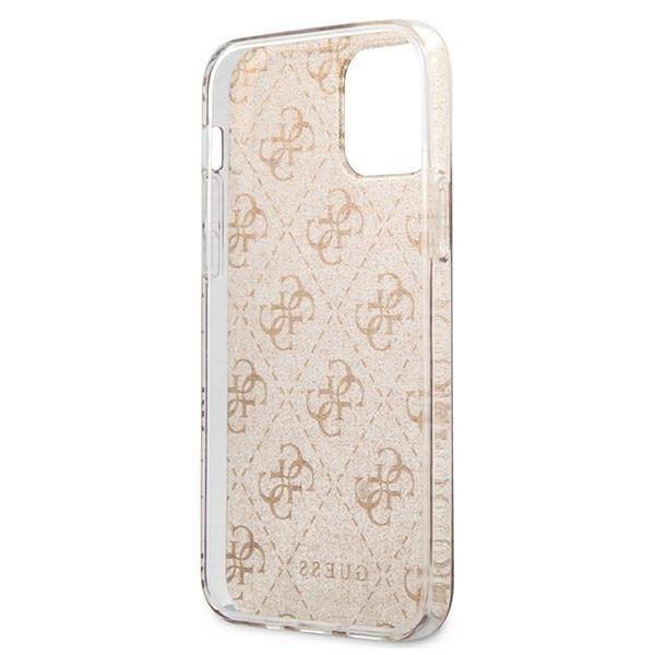 """Guess GUHCP12MPCU4GLGO iPhone 12/12 Pro 6,1"""" złoty/gold hard case 4G Glitter"""