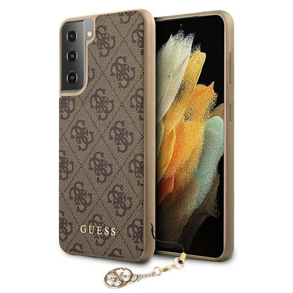 Guess GUHCS21SGF4GBR S21 G991 brązowy/brown hardcase 4G Charms Collection