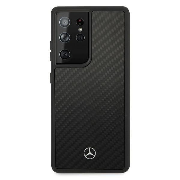 Etui Mercedes MEHCS21LRCABK S21 Ultra G998 czarny/black carbon hardcase Dynamic Line