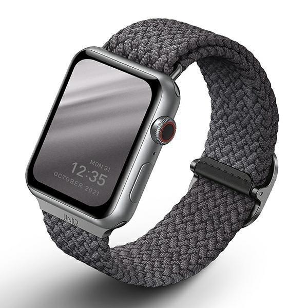 UNIQ pasek Aspen Apple Watch 40/38mm Braided szary/granite grey
