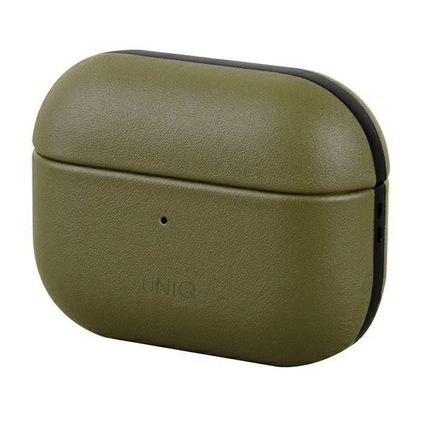UNIQ etui Terra AirPods Pro Genuine Leather oliwkowy/olive