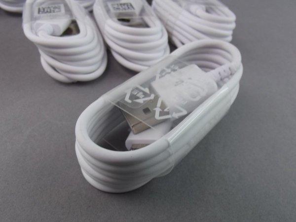 SAMSUNG EP-DG925UWE ORYGINALNY KABEL USB - MICRO USB FAST CHARGE dł.1,2m SAMSUNG GALAXY J3 J5 J7 2016 (biały)
