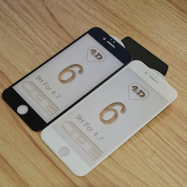 "HardGlass MAX 4D - Szkło Hartowane na cały ekran do Apple iPhone 6 PLUS 6S PLUS (5,5"") kolor czarny"