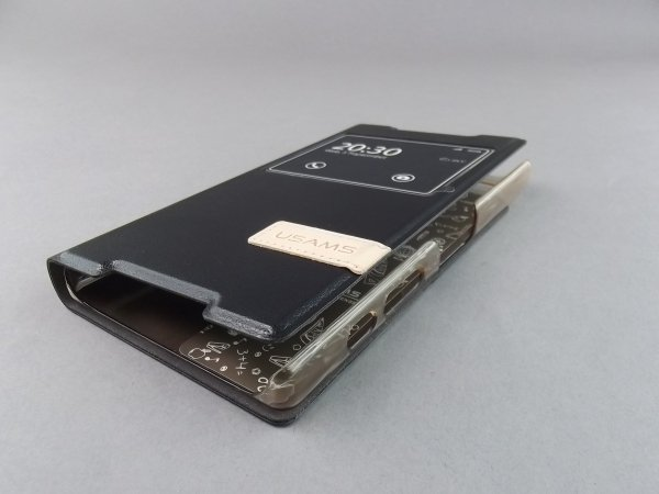 USAMS S VIEW Case Cover Flip Stand  ETUI do SONY XPERIA Z5 COMPACT (czarne)