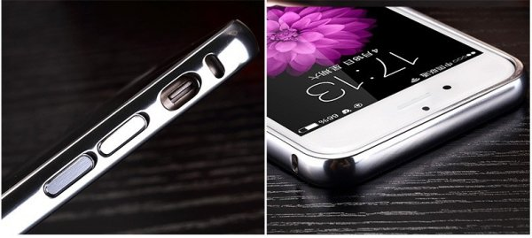 ALUMINIOWY BUMPER ETUI do Apple iPhone 6 6S (2 kolory)