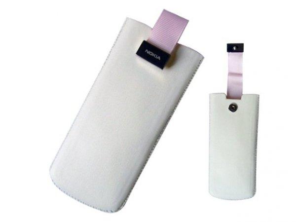 NOKIA 6300 / 6500 PULL UP WSUWANE (biało różowe)