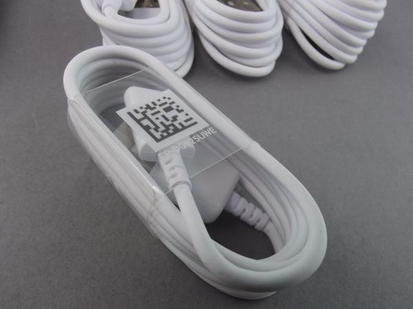 SAMSUNG EP-DG925UWE ORYGINALNY KABEL USB - MICRO USB FAST CHARGE dł.1,2m SAMSUNG GALAXY S6 S6 EDGE S7 S7 EDGE (biały)