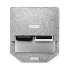 """CMXING FILCOWE NATURALNE ETUI KOPERTA 3w1 do laptopa i tabletu 11"""" (jasny szary)"""