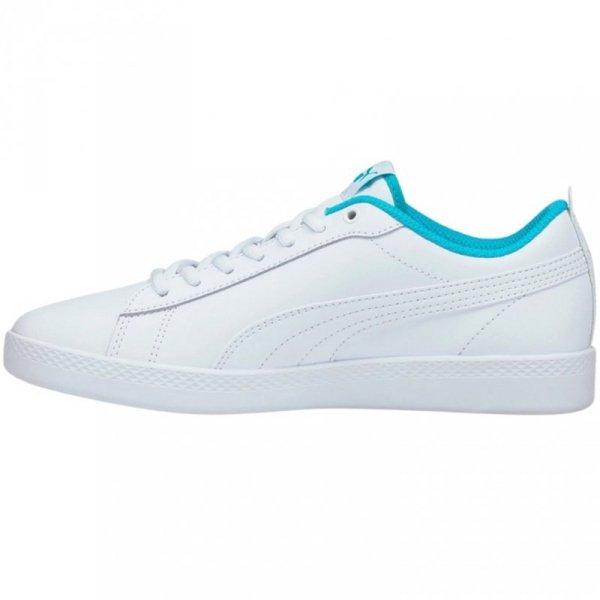 Buty damskie Puma Smash Wns v2 biało-niebieskie 365208 27