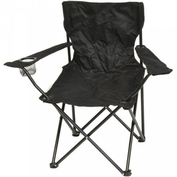 Krzesło turystyczne składane 50x50x80cm czarne 1020297