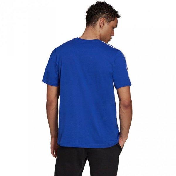 Koszulka męska adidas Essentials 3-Stripes niebieska H12177