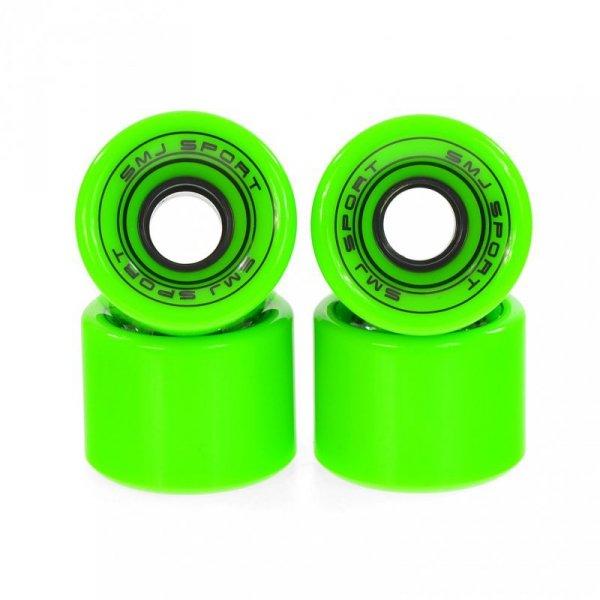 Kółka SMJ do deskorolki plastikowej 60x45mm 4 szt. zielone