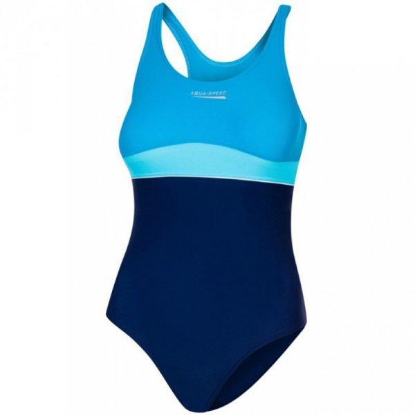 Kostium kąpielowy dla dzieci Aqua-Speed Emily granatowo-turkusowy 42 367