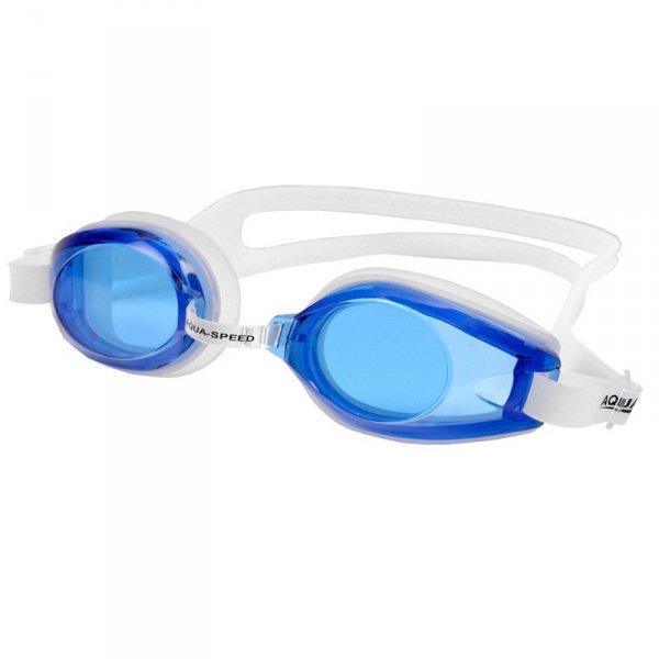 Okulary pływackie Aqua-Speed Avanti biało-granatowe 61 007