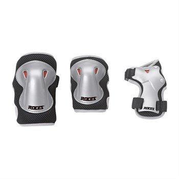 Ochraniacze na łyżworolki Roces Super JR 3-pack czarno szare 301276