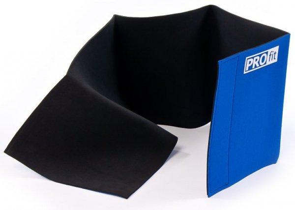 Pas neoprenowy wyszczuplający Profit 25CM szeroki niebieski DK 5051
