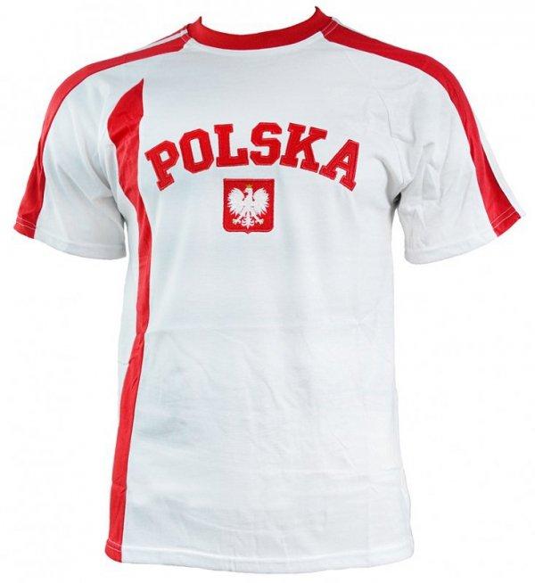 Koszulka dla dzieci Replika Polska JR biało czerwona