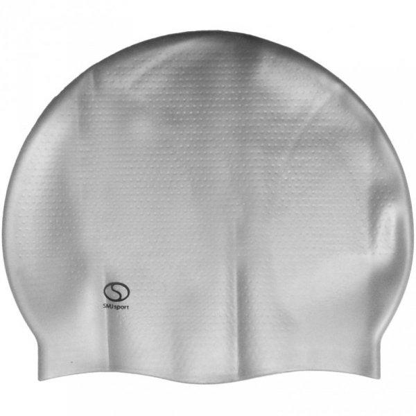 Czepek SMJ masaż jednokolorowy srebrny