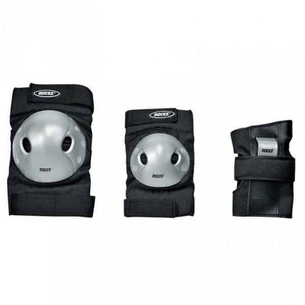Ochraniacze na łyżworolki Roces Extra Three Pack czarno-szare 301366 01