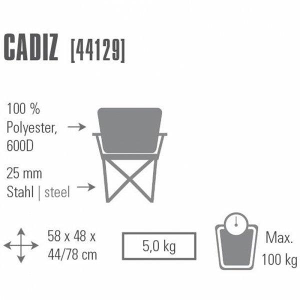 Krzesło składane High Peak Cadiz 44129