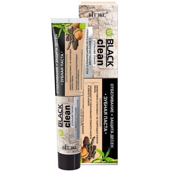 Pasta do Zębów z Węglem Aktywnym Wybielanie i Ochrona Dziąseł, Black Clean