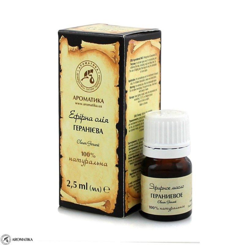 Olejek Geraniowy, 100% Naturalny, Aromatika, 2.5ml