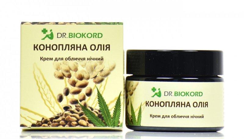 Krem do Twarzy na Noc z Olejem Konopnym, Dr.Biokord