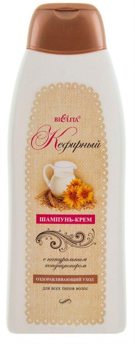 Szampon Kremowy Kefirowy z Naturalną Odżywką, Belita
