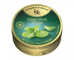 Cavendish & Harvey Clear Mint Drops Landrynki Miętowe 200g