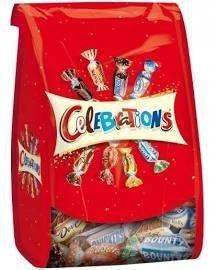 Mix batoników czekoladowych Celebrations Torebka 365g