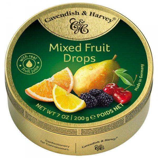Landrynki Cavendish Harvey Mixed Fruit drops cukierki owocowe 200g