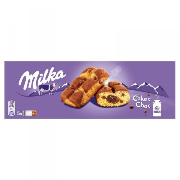 Milka Cake & Choc Ciastka biszkoptowe z kawałkami czekolady mlecznej 175 g