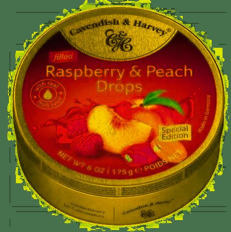 Landrynki CAVENDISH & HARVEY Raspberry & Peach z nadzieniem 175 g