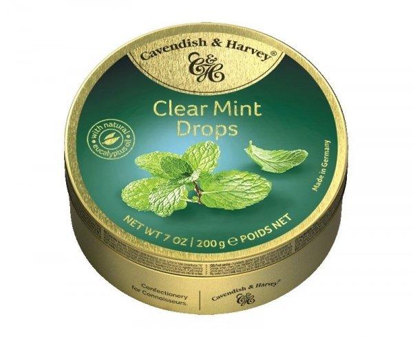 Cavendish & Harvey Clear Mint Drops Landrynki o smaku Miętowym 200g